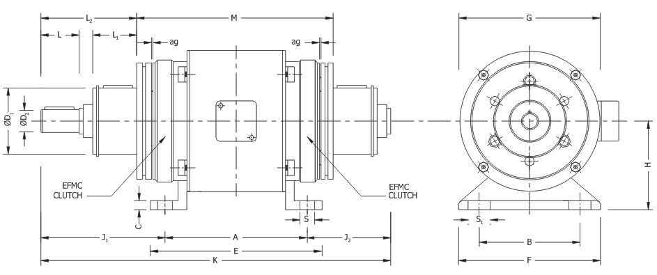 Electromagnetic Double Clutch Combination-design