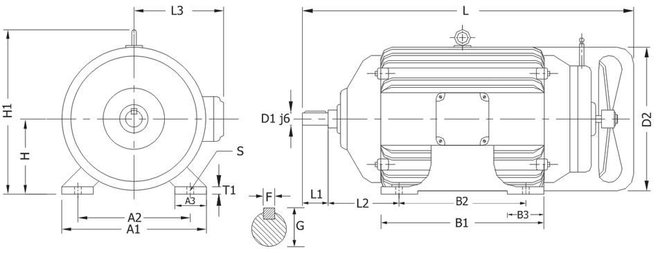 tefc-foot-mounted-motor-with-dc-brake-type-efsb-design